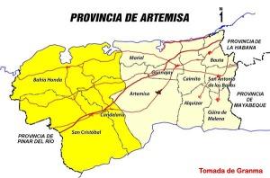 Artemisa Mapa